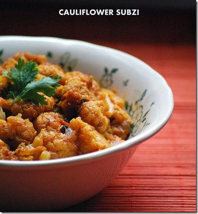 Cauliflower currry